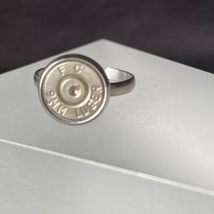Stainless Steel Adjustable 9mm Ring